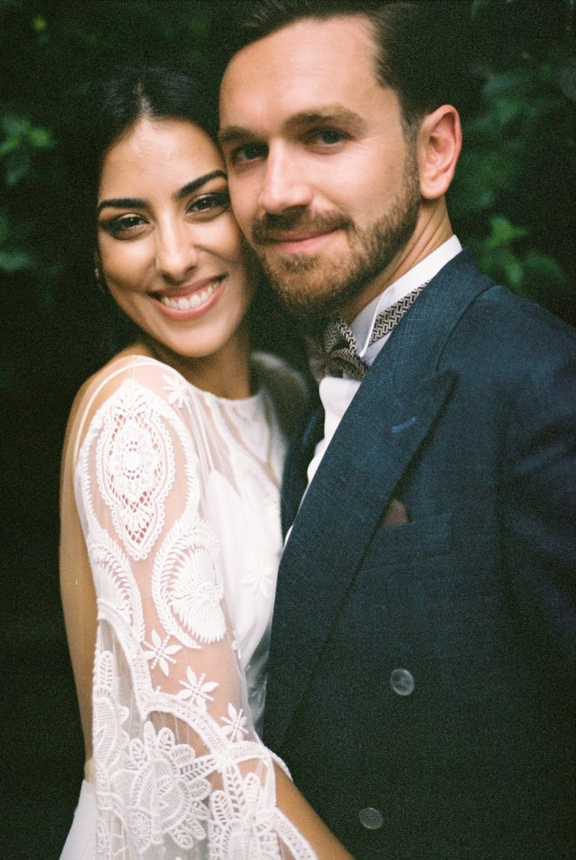 Couple at their Portugal Boho Chic Wedding