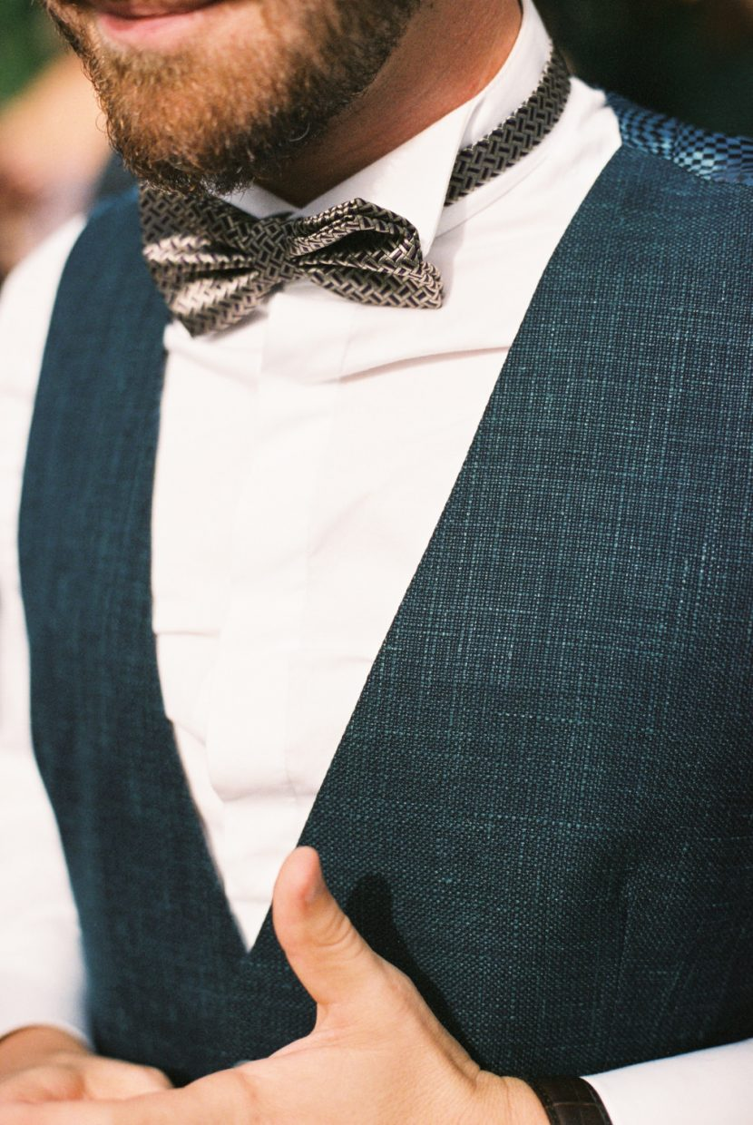 Groom outfit detail